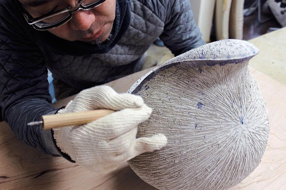 展讯|蓝色·贝壳·漆——田上真也当代陶瓷展